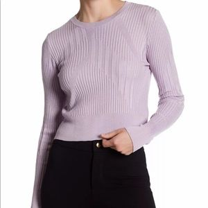 Top shop lavender ribbed crop sweater